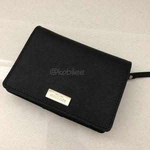 Kate spade black newbury lane wallet